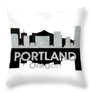 Portland Or 4 Throw Pillow
