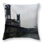 Portland Oregon Steel Bridge Throw Pillow