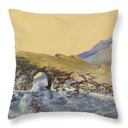Portland Point Natural Bridge Circa 1862 Throw Pillow by Aged Pixel