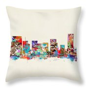 Portland Skyline Oregon Throw Pillow