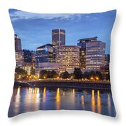 Portland Skyline Pm2 Throw Pillow