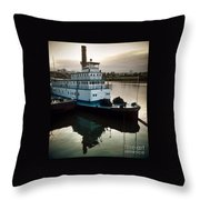 Portland Steam Sternwheeler  Tugboat Throw Pillow