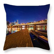 Portland Under The Stars Throw Pillow