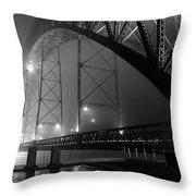 Porto @ Night Fog Throw Pillow