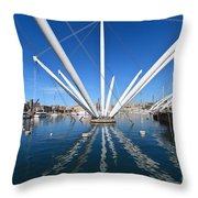 Porto Antico In Genova Throw Pillow
