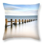 Portobello Groynes Throw Pillow