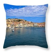 Portoferraio - View From The Sea Throw Pillow