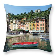 Portofino, Genoa Province, Italian Throw Pillow
