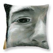 Portrait 10 Throw Pillow
