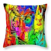 Portrait 703 - Marucii Throw Pillow