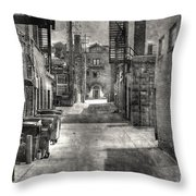 Portrait Alley-2 Throw Pillow