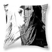Portrait Art Jennifer Lopez  Throw Pillow
