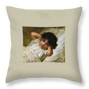 Portrait De Marie-louise  Throw Pillow