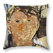 Portrait De Picasso Throw Pillow