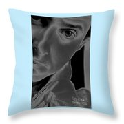 Portrait Figurative Study Piece Of Bobby As Solarised Throw Pillow