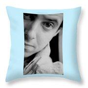 Portrait Figurative Study Piece Of Bobby  Throw Pillow