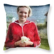 Portrait In Newfoundland Throw Pillow
