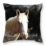 Portrait In Watercolor -  Featured In Spectacular Artworks Of Faa Throw Pillow