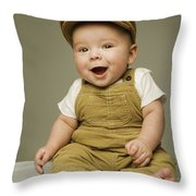 Portrait Of A Baby Boy Throw Pillow