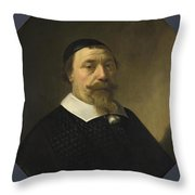 Portrait Of A Bearded Man Throw Pillow