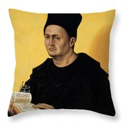 Portrait Of A Benedictine Abbot Throw Pillow