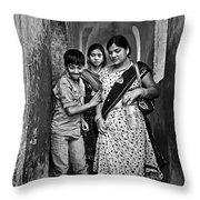 Portrait Of A Candid Moment Throw Pillow