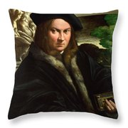 Portrait Of A Collector Throw Pillow