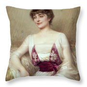 Portrait Of A Countess Throw Pillow