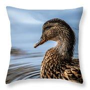 Portrait Of A Duck Throw Pillow
