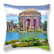 Portrait Of A Filipina Beauty Altered Version Throw Pillow
