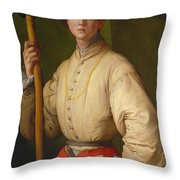 Portrait Of A Halberdier Throw Pillow