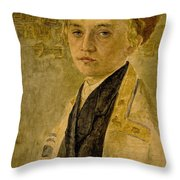Portrait Of A Jewish Boy  Throw Pillow