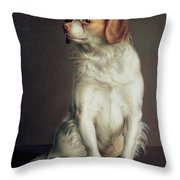Portrait Of A King Charles Spaniel Throw Pillow