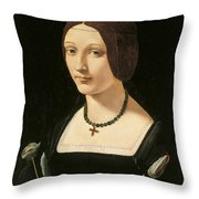 Portrait Of A Lady As Saint Lucy Throw Pillow