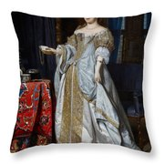 Portrait Of A Lady Throw Pillow by Gabriel Metsu