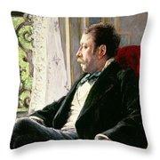 Portrait Of A Man Throw Pillow