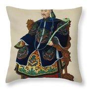 Portrait Of A Mandarin Throw Pillow