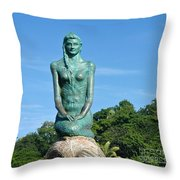 Portrait Of A Mermaid Throw Pillow