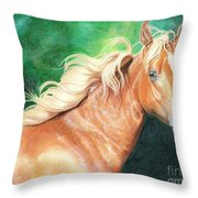 Portrait Of A Palomino Throw Pillow