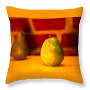 Portrait Of A Pear Throw Pillow