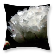 Portrait Of A Peony Throw Pillow