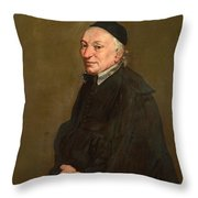 Portrait Of A Priest Throw Pillow