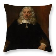 Portrait Of A White-haired Man Throw Pillow