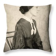 Portrait Of A Woman, C1895 Throw Pillow