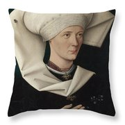 Portrait Of A Woman Of The Hofer Family Throw Pillow