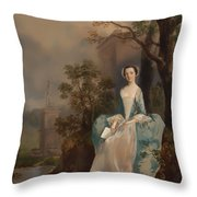 Portrait Of A Woman Throw Pillow