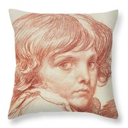 Portrait Of A Young Boy Throw Pillow
