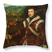 Portrait Of A Young Man As David Throw Pillow