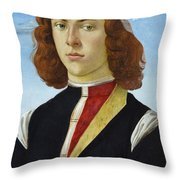 Portrait Of A Young Man Ghirlandaio Throw Pillow