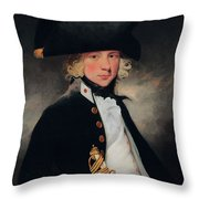 Portrait Of A Young Midshipman, C.1796 Throw Pillow